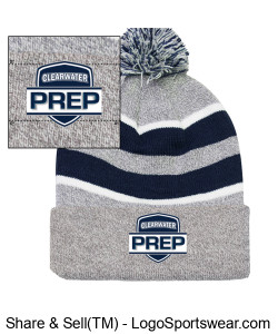 Team Beanie with Pom Pom Design Zoom